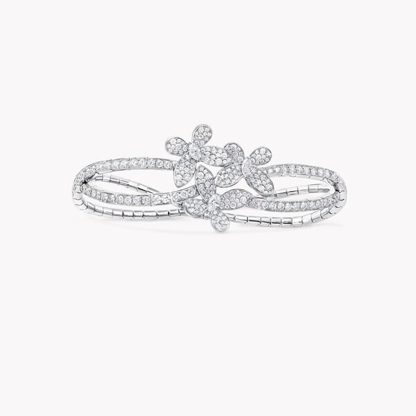Triple Pavé Butterfly Diamond Bracelet, , hi-res