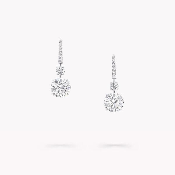 Boucles d'oreilles rondes solitaire en diamant, , hi-res