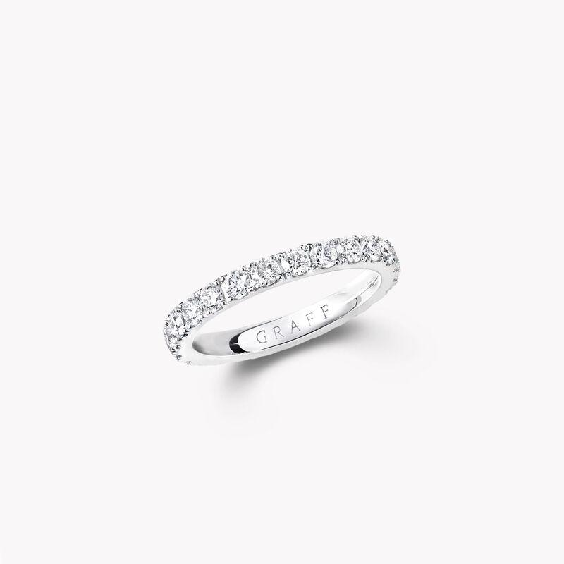 캐슬 세팅 라운드 다이아몬드 웨딩 밴드, , hi-res