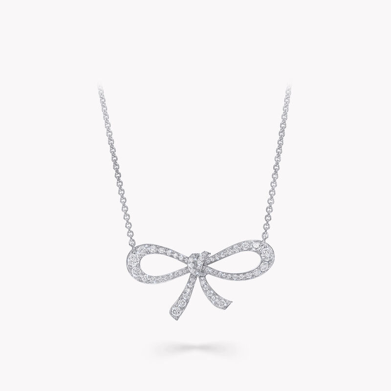 Tilda's Bow Mini Diamond Pendant, , hi-res