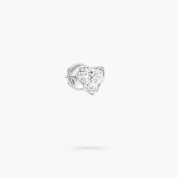 心形鑽石耳釘, , hi-res