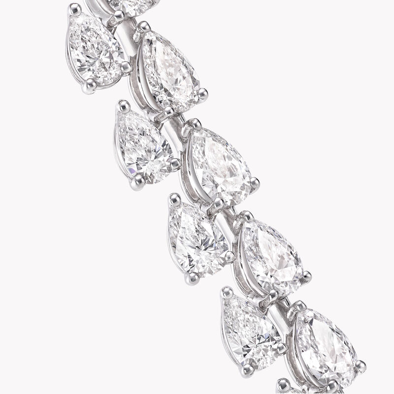 ペアシェイプ ダイヤモンド ブレスレット, , hi-res
