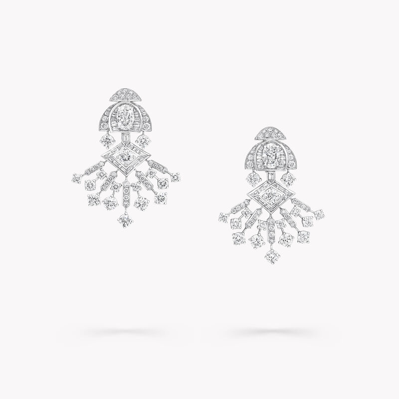 Night Moon Diamond High Jewellery Earrings, , hi-res