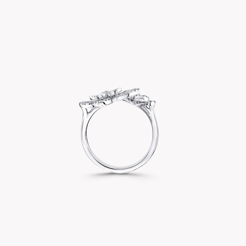 Double Butterfly Silhouette Diamond Ring, , hi-res