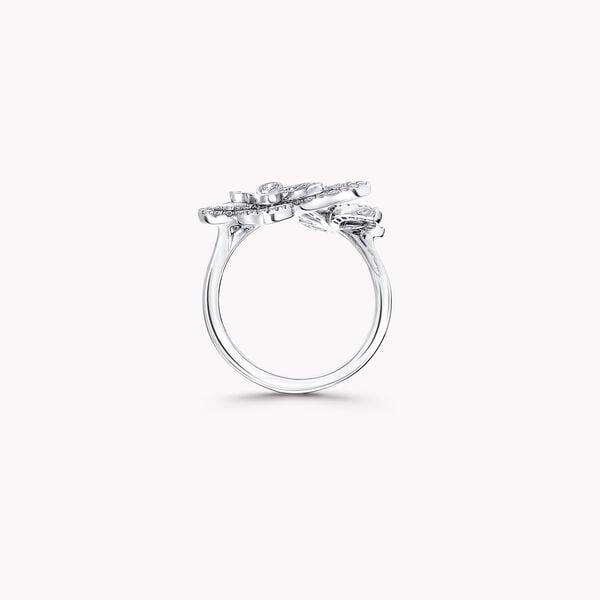 ミニ バタフライ シルエット ダイヤモンド リング, , hi-res