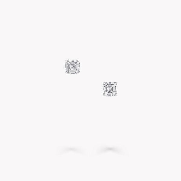 Clous d'oreilles en diamants taille émeraude, , hi-res