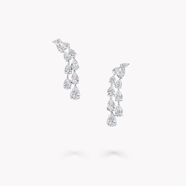 Pear Shape Diamond Earrings, , hi-res