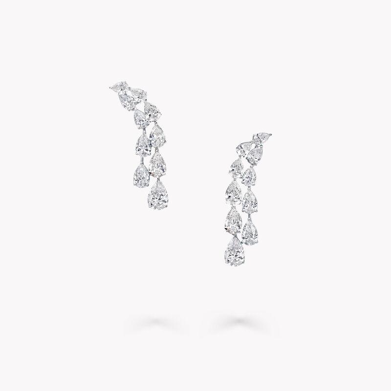 Boucles d'oreilles en diamants en forme de poire, , hi-res