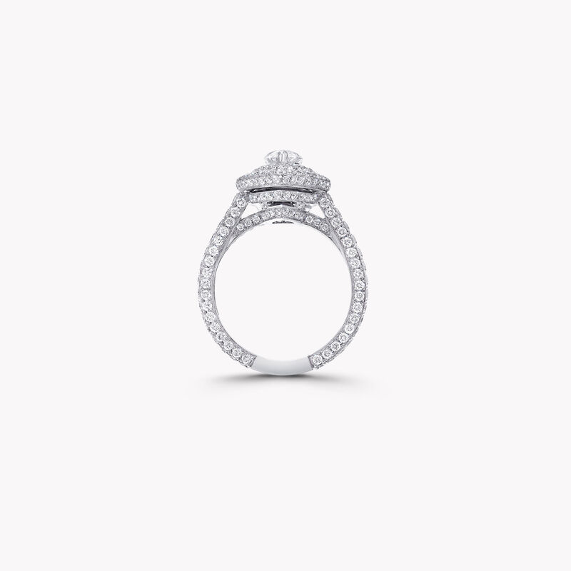 Twin Constellation Pear Shape Diamond Engagement Ring, , hi-res