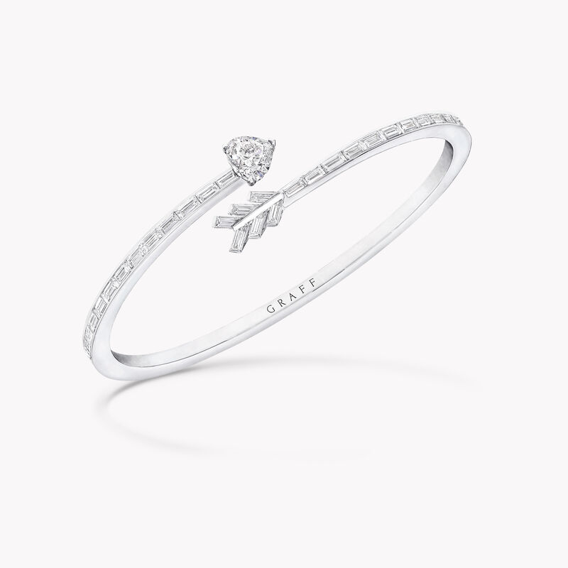 Duet Arrow Wraparound Diamond Bangle, , hi-res