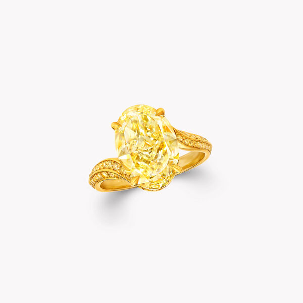 Oval Yellow Diamond High Jewellery Ring, , hi-res