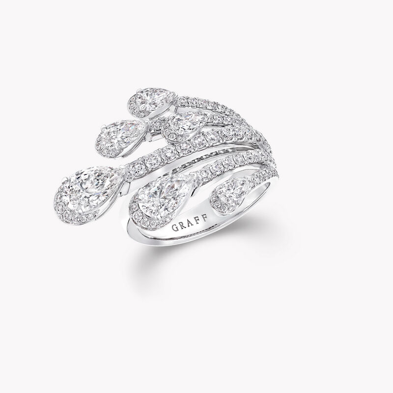 Bague en diamants en forme de poire Duet, , hi-res