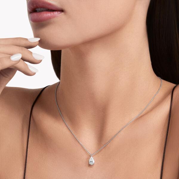 Pear Shape Diamond Solitaire Pendant, , hi-res