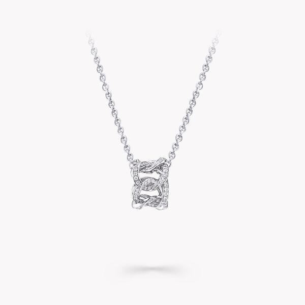 サイ・トゥオンブリーの作品にインスパイアされた ダイヤモンド フープ ペンダント, , hi-res