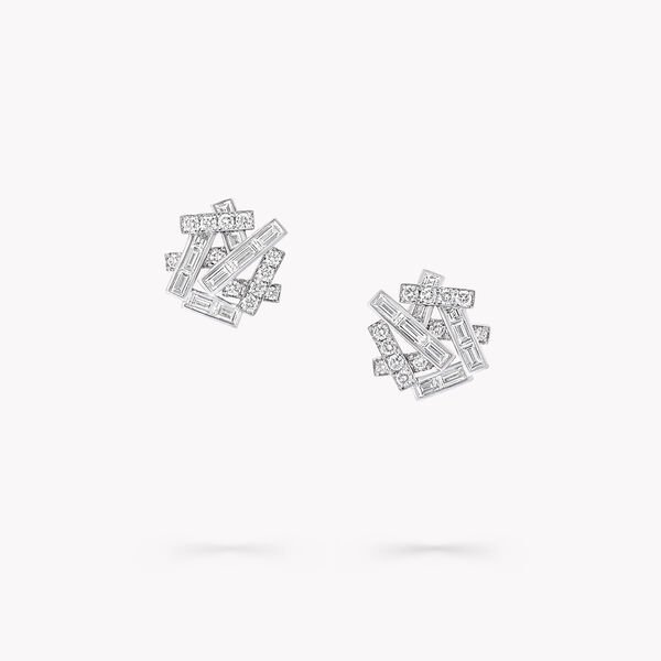 Clous d'oreilles en diamants Threads, , hi-res
