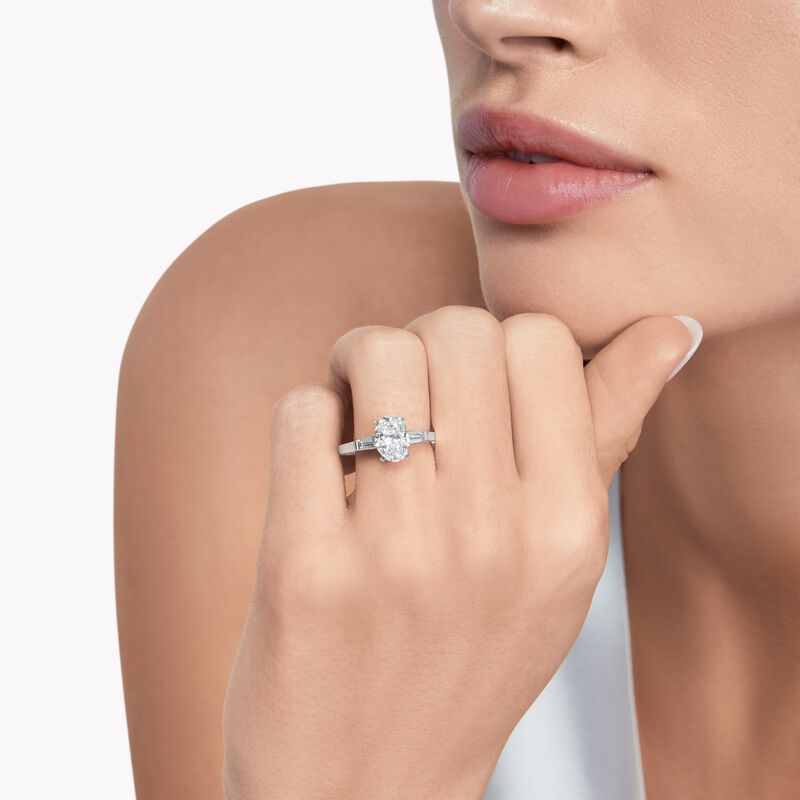 Promise Oval Diamond Engagement Ring, , hi-res