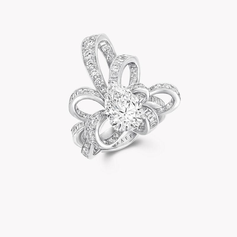 Tilda's Bow Pear Shape Diamond Ring, , hi-res