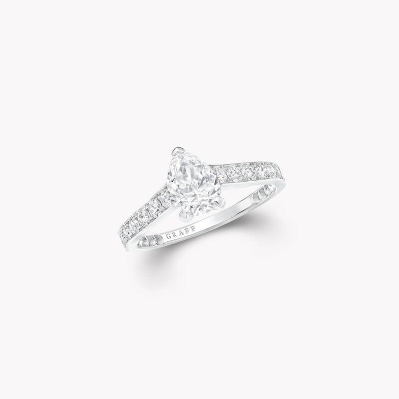 Bague de fiançailles en diamants en forme de poire Flame, , hi-res