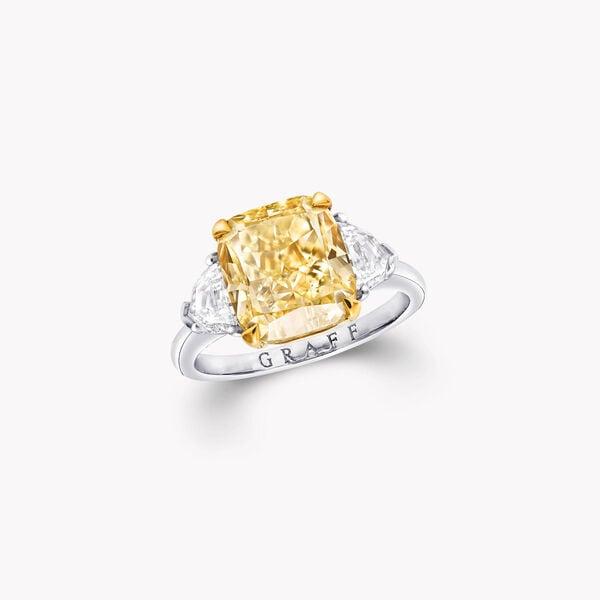 Bague de fiançailles en diamants jaunes taille radiant Promise, , hi-res