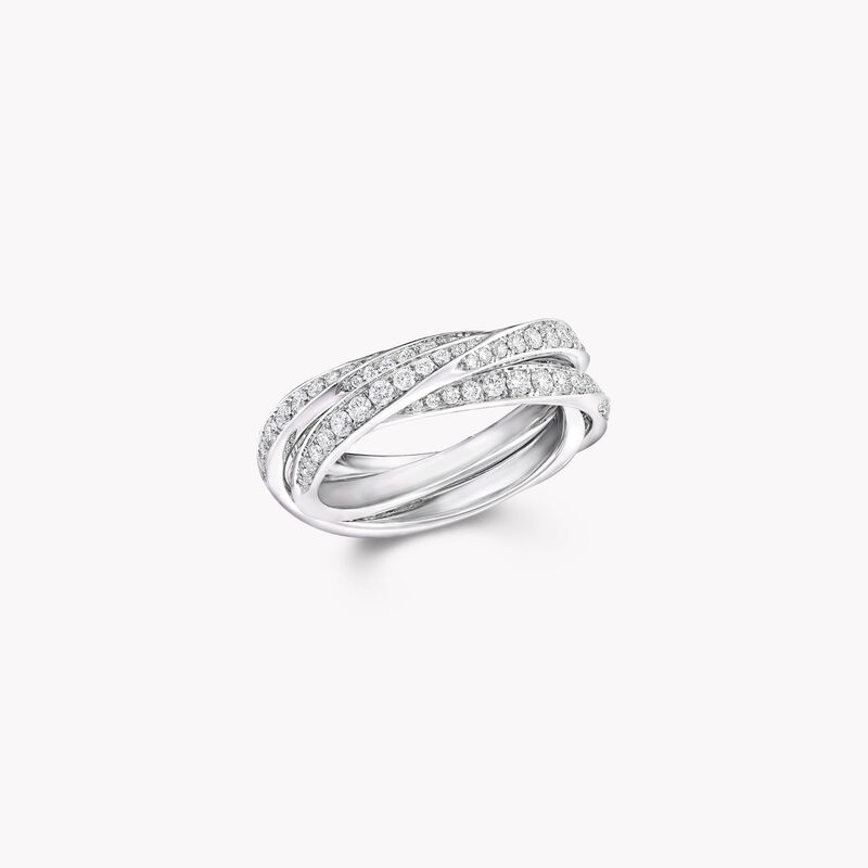 Triple Spiral Pavé Diamond Ring, , hi-res