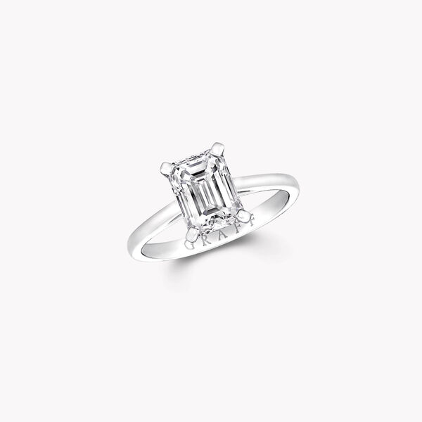 Paragon Emerald Cut Diamond Engagement Ring, , hi-res