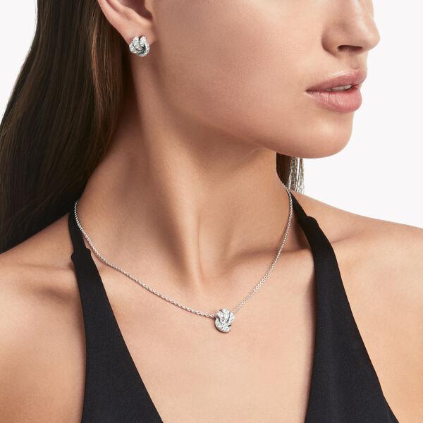 Pendentif en pavés de diamants Knot, , hi-res