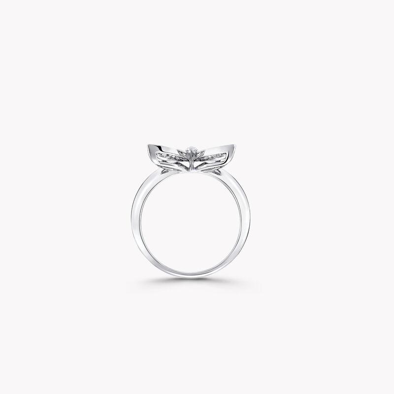 パヴェ バタフライ ダイヤモンド ミニ リング, , hi-res