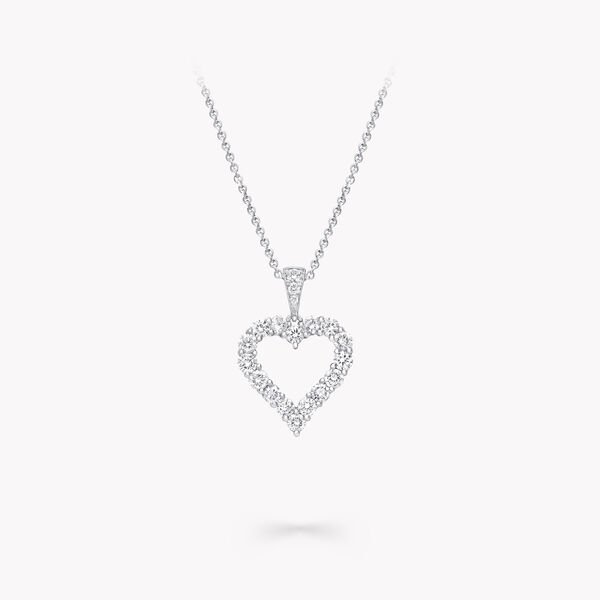 Diamond Heart Silhouette Pendant, , hi-res