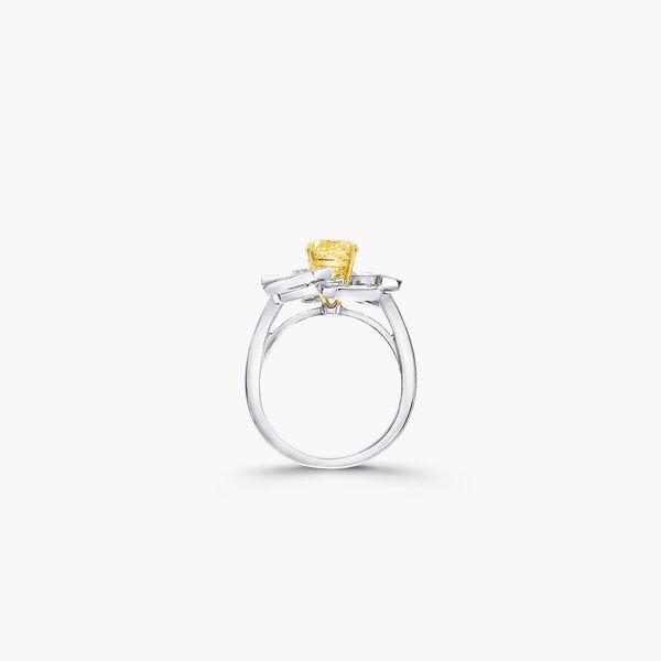 Threads Yellow and White Diamond Ring, , hi-res