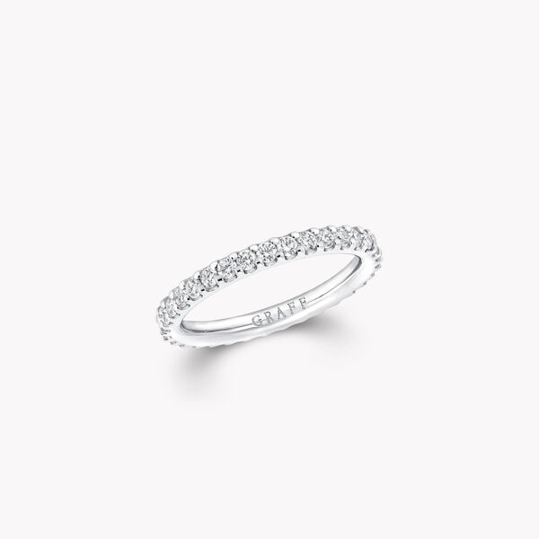 Round Diamond Wedding Band, , hi-res