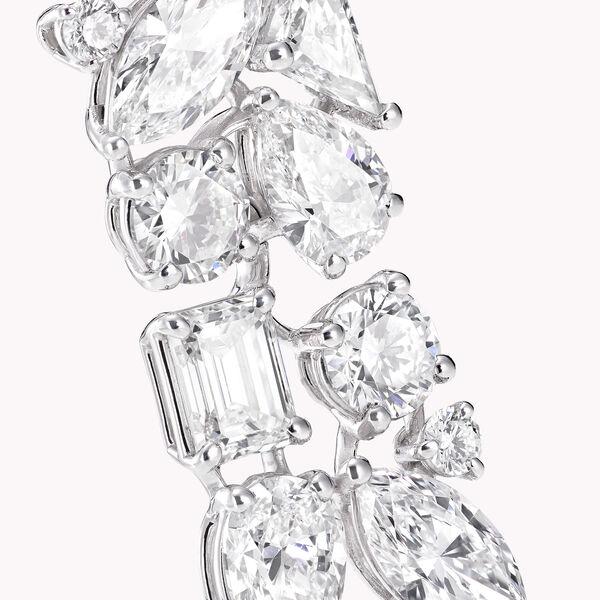 マルチシェイプ ダイヤモンド ドロップ イヤリング, , hi-res