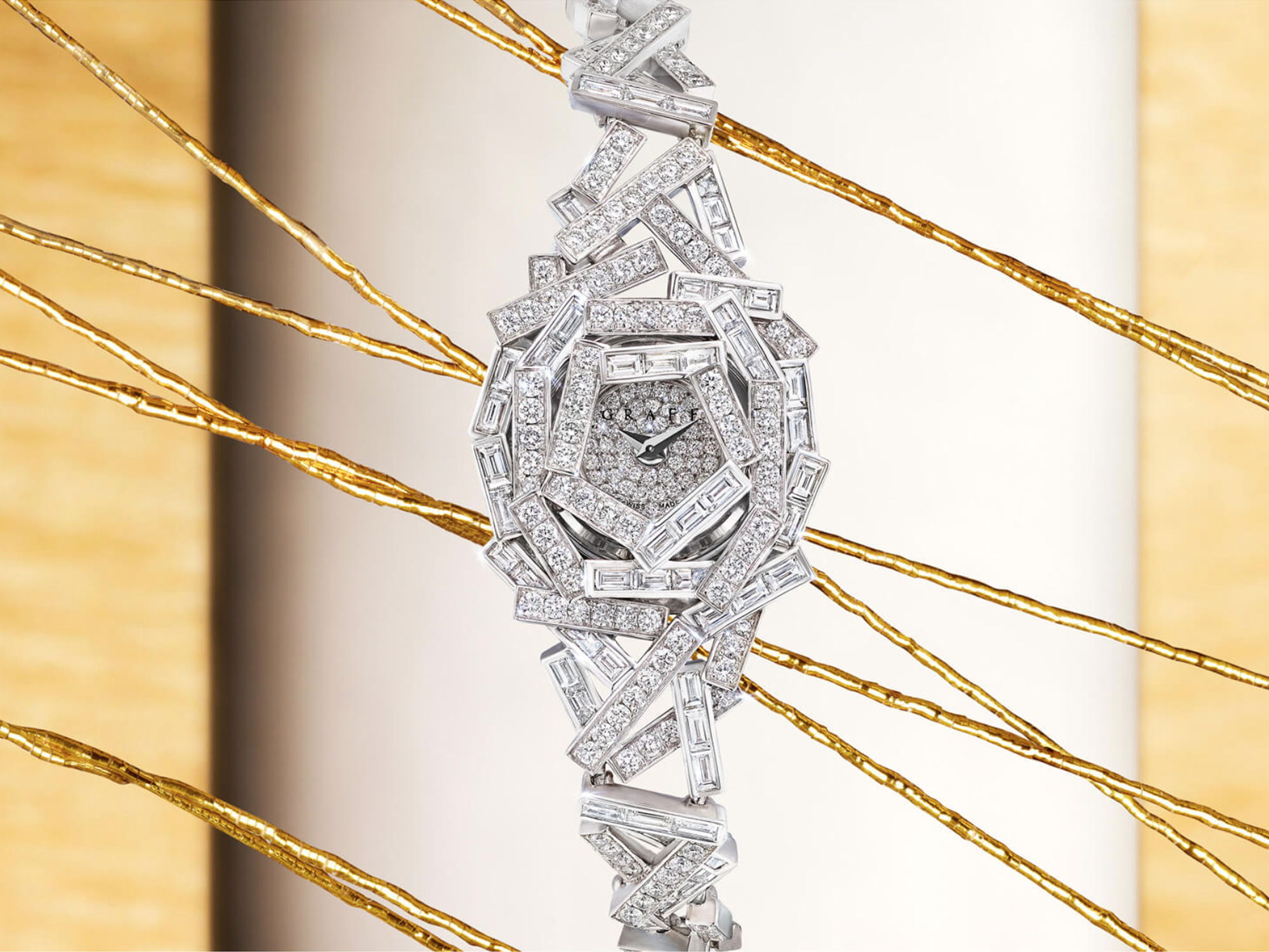 Threads Diamond high jewellery watch from the Graff jewellery collection