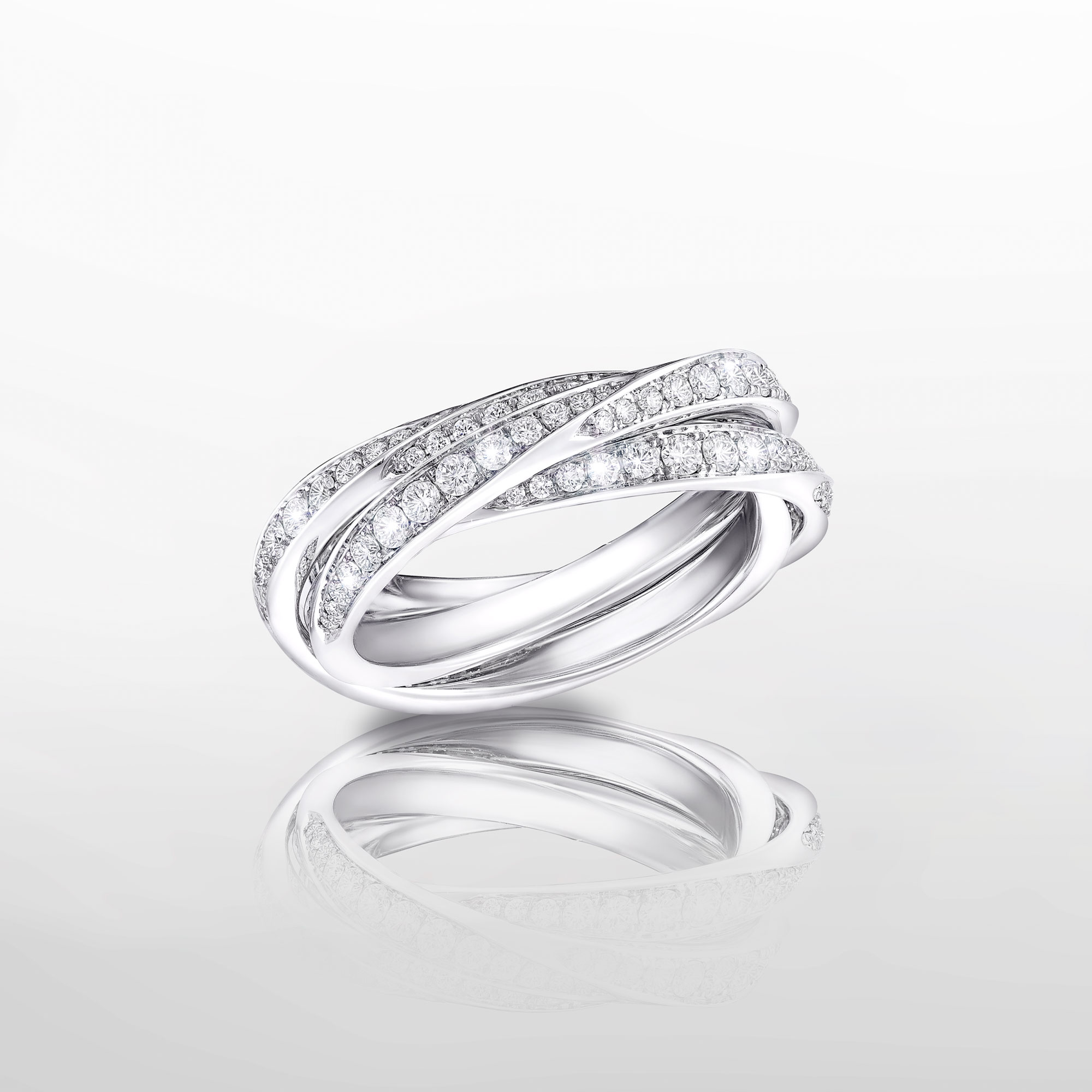 Triple Spiral Pavé Diamond Ring from the Graff Spiral Jewellery Collection