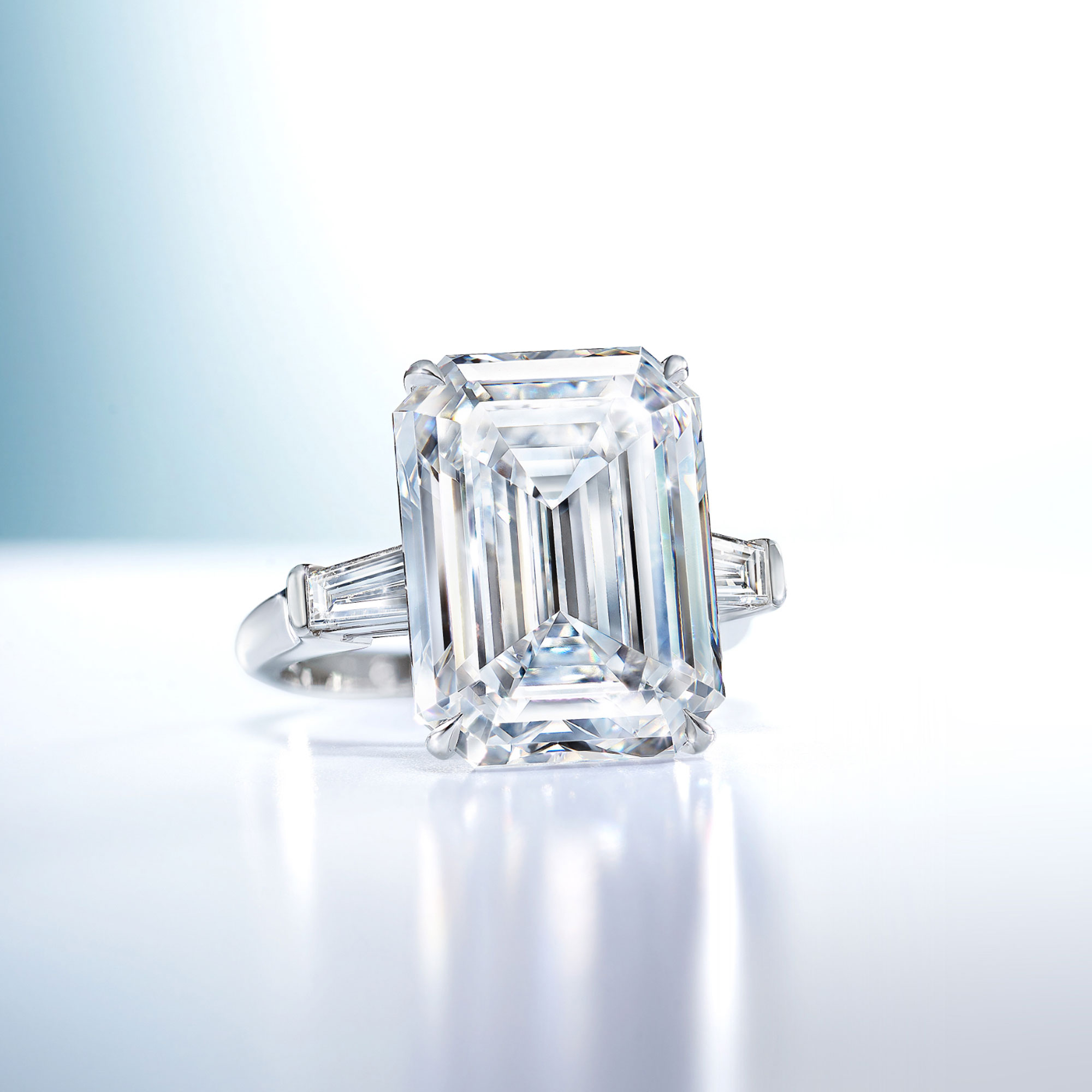 Promise Emerald Cut Diamond Engagement Ring from the Graff bridal collection