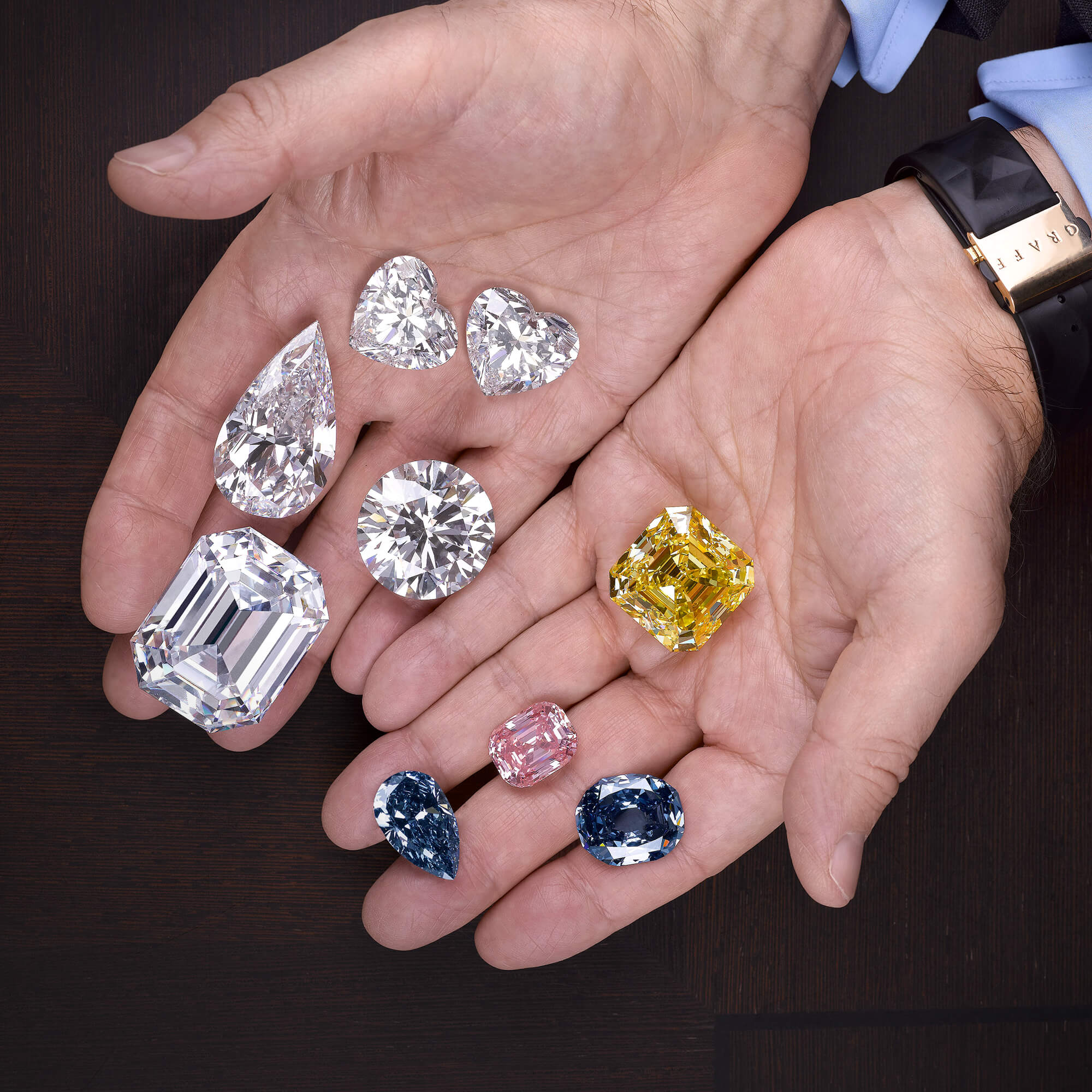 Historical Graff DIamonds from the Star of Bombay to the Graff Perfection in the hands of Mr Laurence Graff