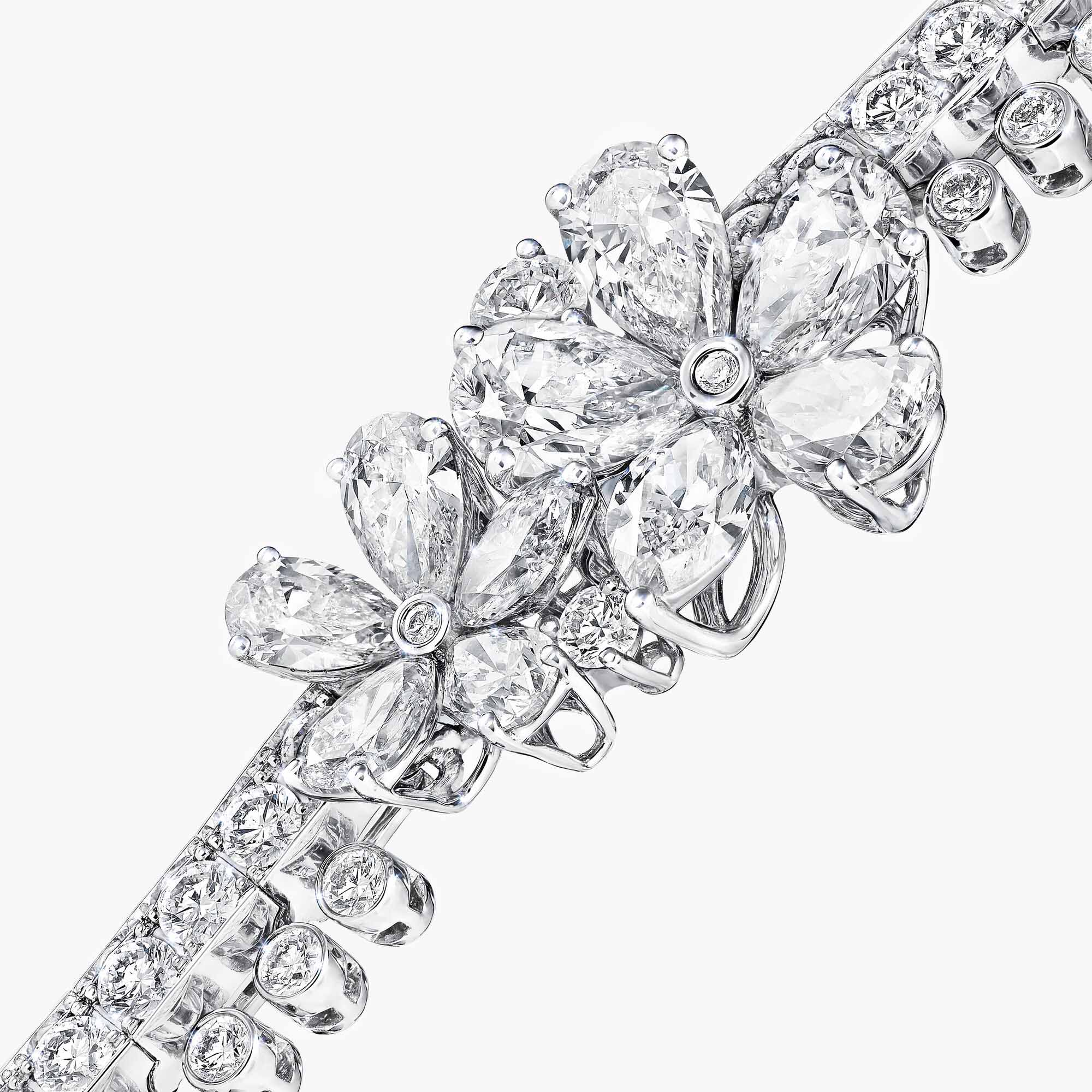 Close up of a Carissa Diamond Bracelet from the Graff jewellery collection
