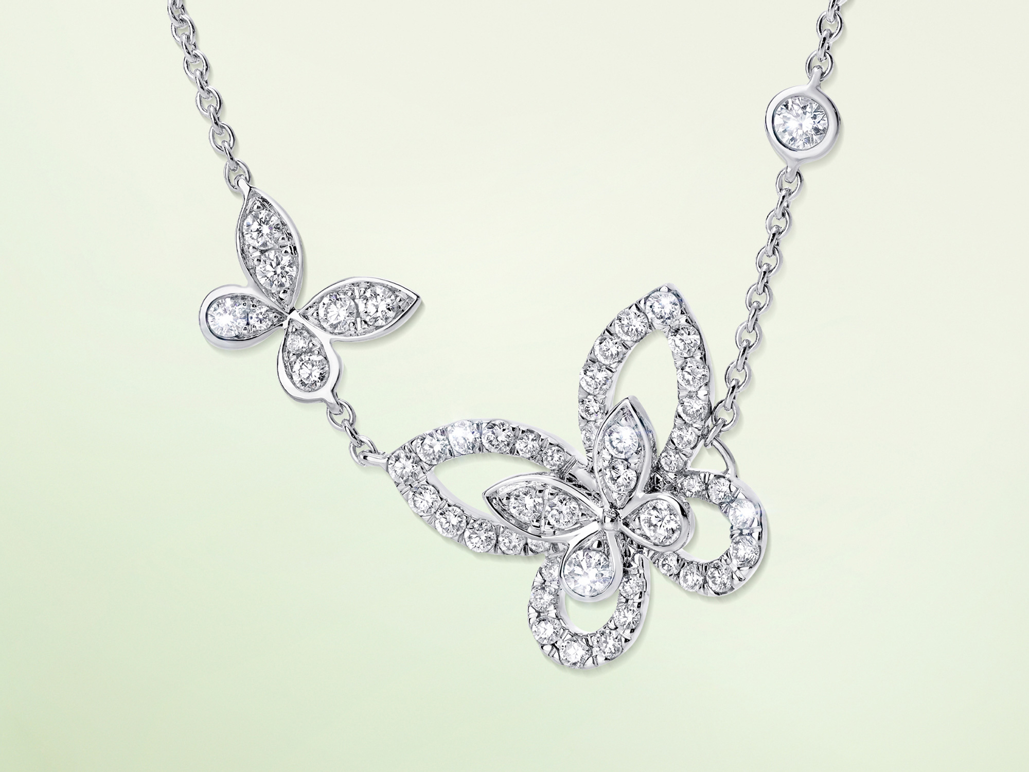 Double Butterfly Silhouette Diamond Pendant from the Graff jewellery collection